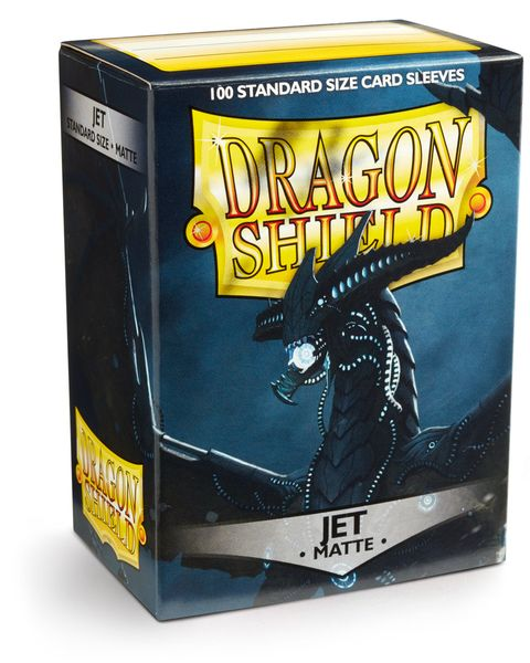 Dragon Shield 100ct Box Deck Protector Matte Jet