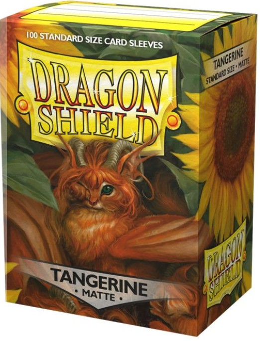 Dragon Shield 100ct Box Deck Protector Matte Tangerine