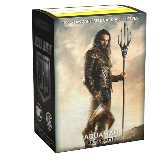 Dragon Shield 100ct Matte DC Justice League Matte Art Aquaman