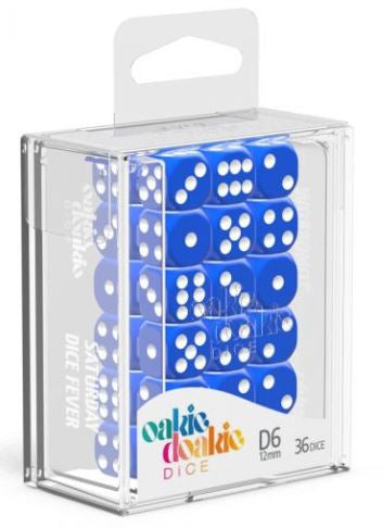 Oakie Doakie: D6 Dice 12mm Solid - Blue