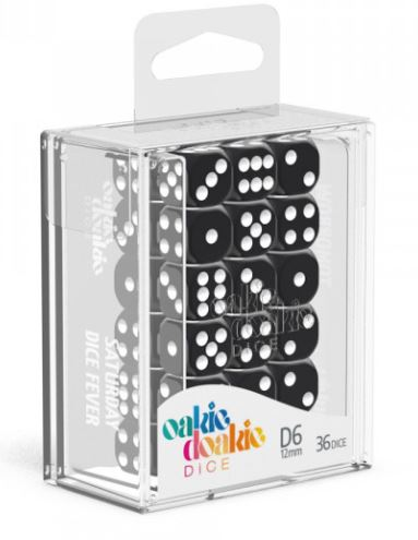 Oakie Doakie: D6 Dice 12mm Solid - Black