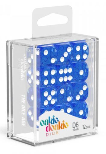 Oakie Doakie: D6 Dice 16mm Speckled - Blue
