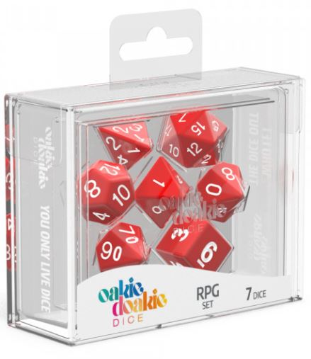 Oakie Doakie: RPG Set Solid - Red