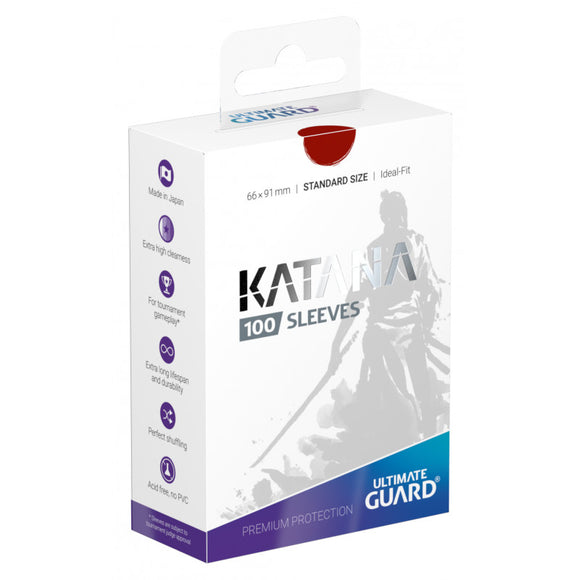Ultimate Guard Sleeves Katana 100-Count - Red