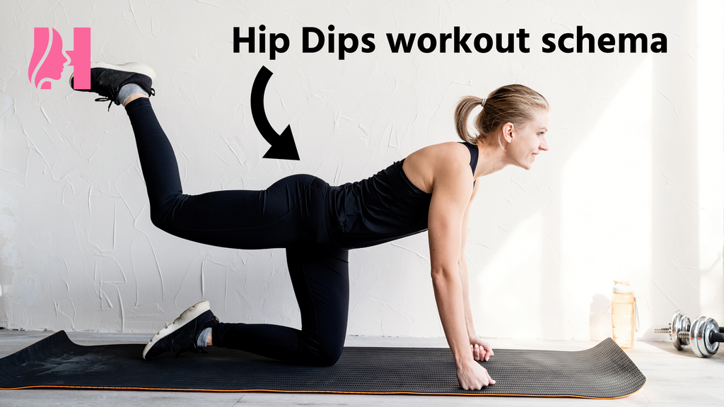 Hip Dips workout schema.