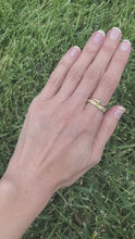 Load and play video in Gallery viewer, Forged: Champagne-Colored Diamond and Rose Gold Hammered Ring