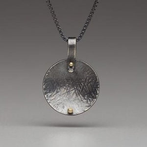 Pavement Droplets: Curved Sphere/Rivet Necklace