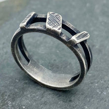 Load image into Gallery viewer, Asymmetrical Bars: Sterling Silver Ring