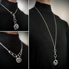 Load image into Gallery viewer, In Orbit: Multi-Length, Single/Double Layer Loop Necklace