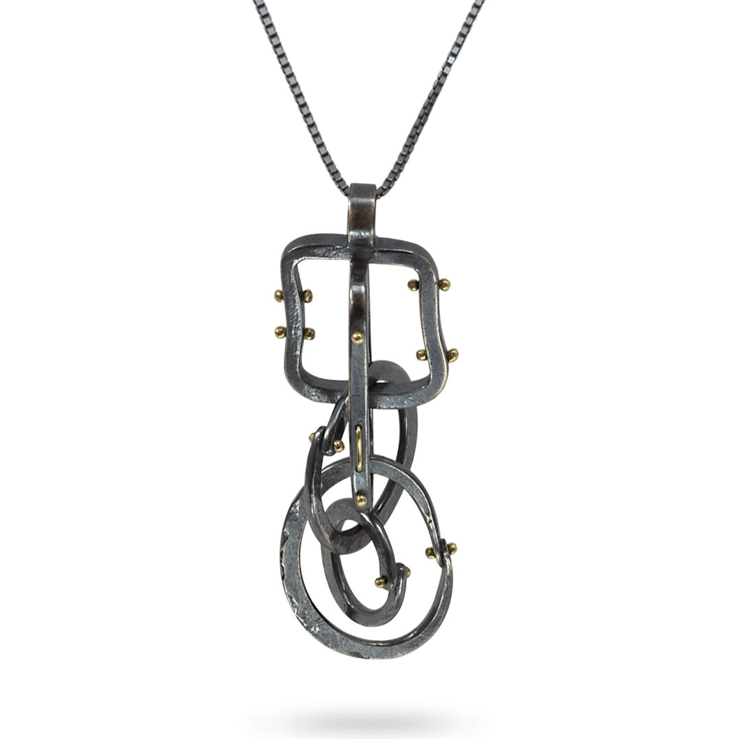 Forged: Geometric Rivet Necklace