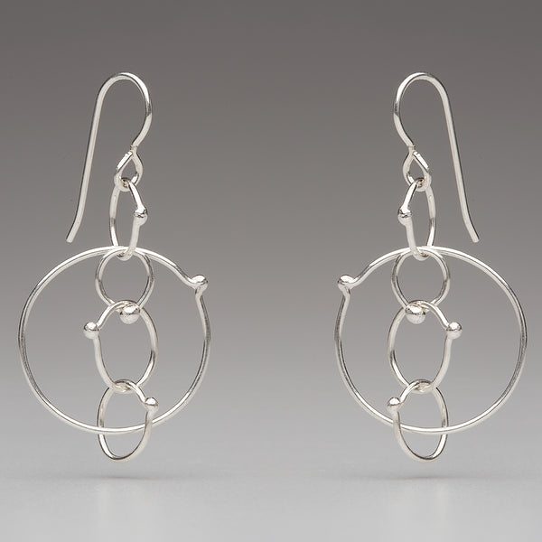 In Orbit: Five-Loop Drop Earrings