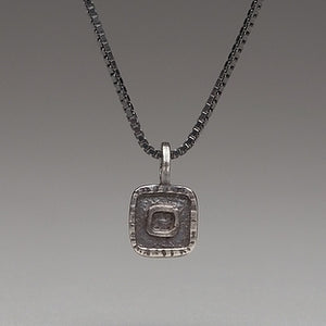 Forged: Raised Square Necklace