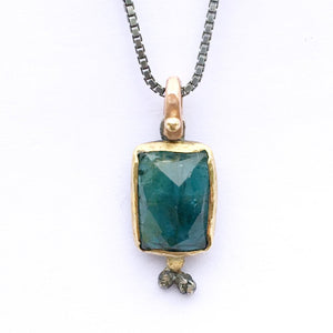 Natural Wonder: Faceted Green Tourmaline Necklace