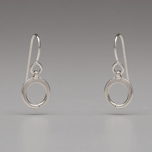 In Orbit: Simple Circle Drop Earrings