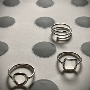 Forged: Woven Square Sterling Silver Ring