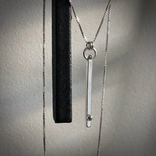 Load image into Gallery viewer, Defined Path: Vertical Bar/Sphere Necklace