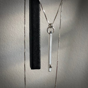 Defined Path: Vertical Bar/Sphere Necklace