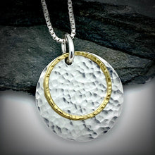 Load image into Gallery viewer, Gilded: Double Disk Layered Necklace