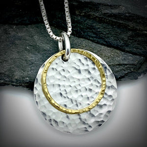Gilded: Double Disk Layered Necklace
