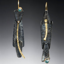 Load image into Gallery viewer, Organic Matter: Blue Diamond/Nonconformist Drop Earrings