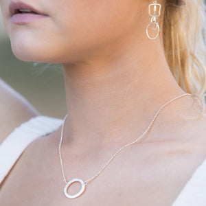 Forged: Simple Circle Etched Necklace