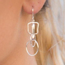 Load image into Gallery viewer, Forged: Geometric Drop Earrings