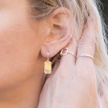 Load image into Gallery viewer, Gilded: Double Rectangle Layered Drop Earrings