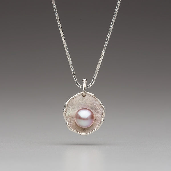 Sea Level: Rose Petal/Pink Pearl Necklace
