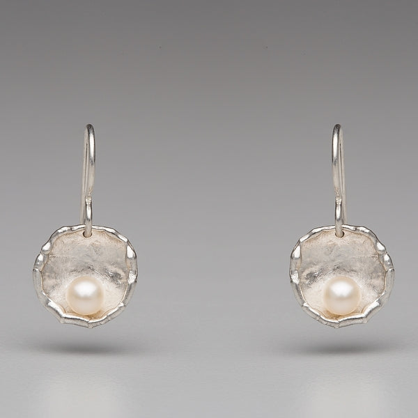 Sea Level: Rose Petal Pearl Drop Earrings