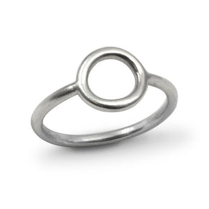 In Orbit: Simple Circle Sterling Silver Ring
