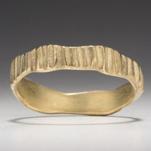 Load image into Gallery viewer, Textured Bark: Yellow Gold Narrow Ring