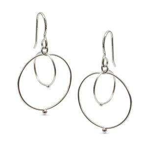 In Orbit: Loops Intersecting Drop Earrings