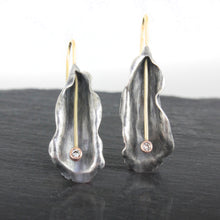 Load image into Gallery viewer, Organic Matter: Diamond Petal Drop Earrings