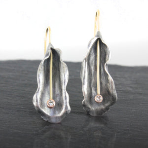 Organic Matter: Diamond Petal Drop Earrings