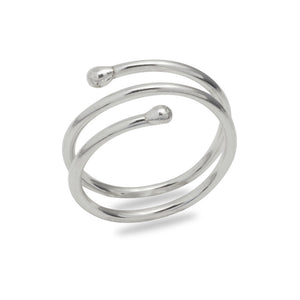 Spiral Trajectory: Playful Coil Wrap Ring