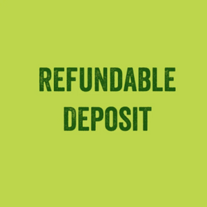 Required Security Deposit (Refundable) - Small Fridge