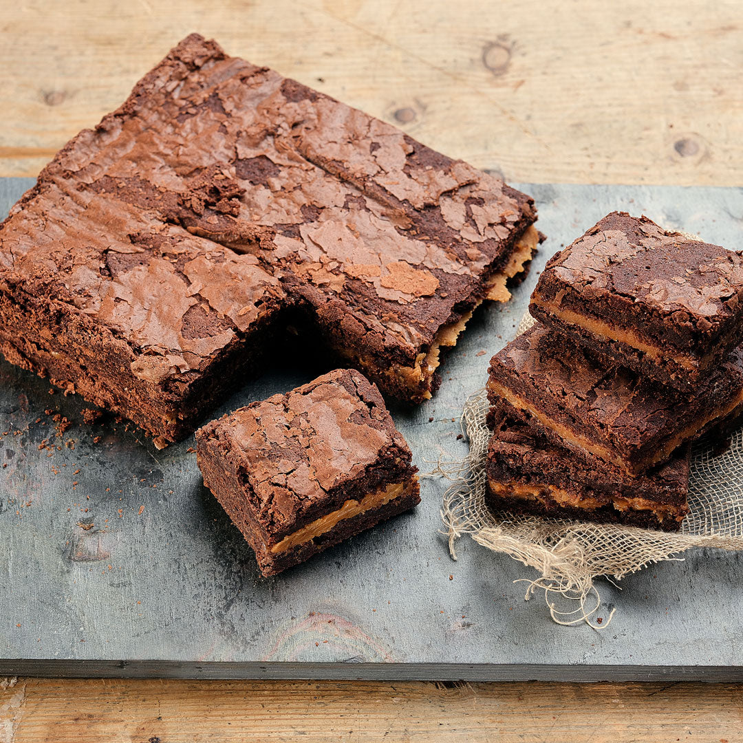 Salted Caramel Brownies - Small Traybake Gift Box