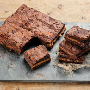 Salted Caramel Brownies - Large Traybake Gift Box