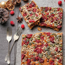 Load image into Gallery viewer, Caramel Fruit and Seed Flapjack - Small Traybake Gift Box