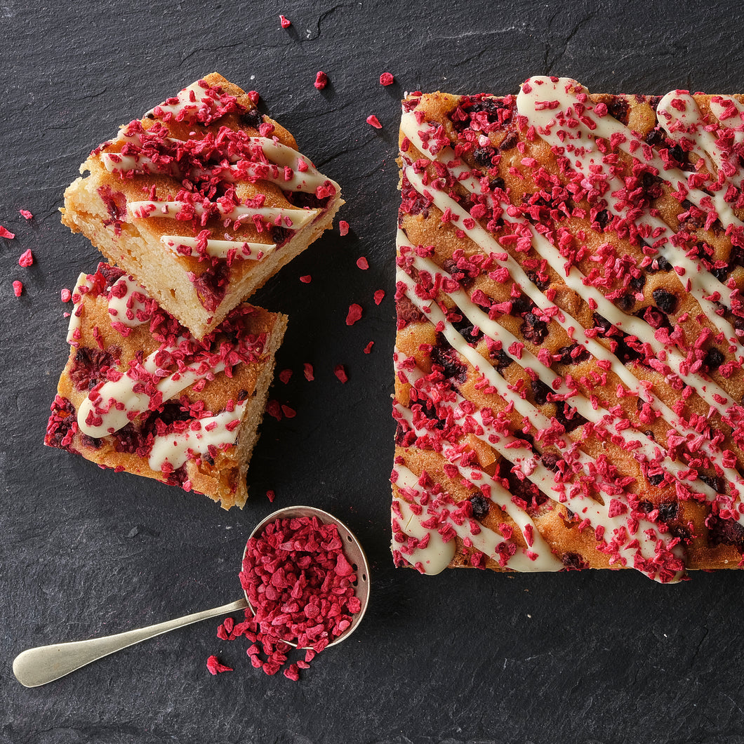 Raspberry & White Chocolate Blondies - Small Traybake Gift Box