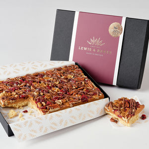 Sea Salted Caramel Nut Shortbread - Small Traybake Gift Box