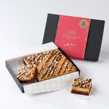 Load image into Gallery viewer, Salted Caramel Layered Blondie-Brownies - Small Traybake Gift Box
