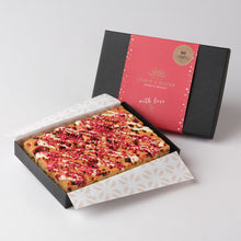 Load image into Gallery viewer, Raspberry & White Chocolate Blondies - Small Traybake Gift Box