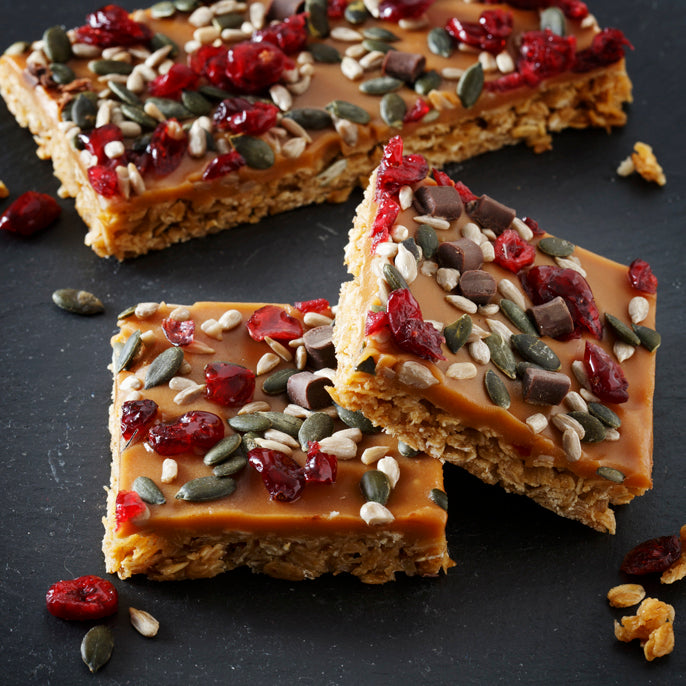 Caramel Fruit and Seed Flapjack - Large Traybake Gift Box