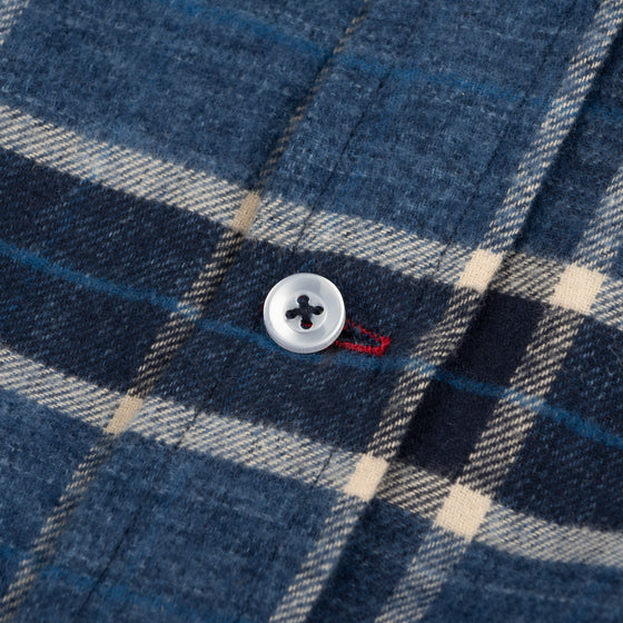Gino Twill Flannel Plaid - Navy/Indigo