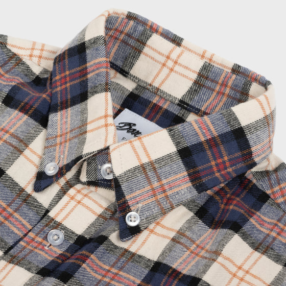 Gino Twill Flannel Plaid - Navy/Off White/Red