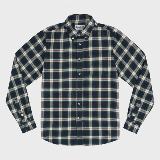 Gino Twill Flannel Plaid - Green/White/Red
