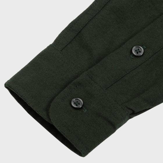Gino Twill Flannel - Forest Green
