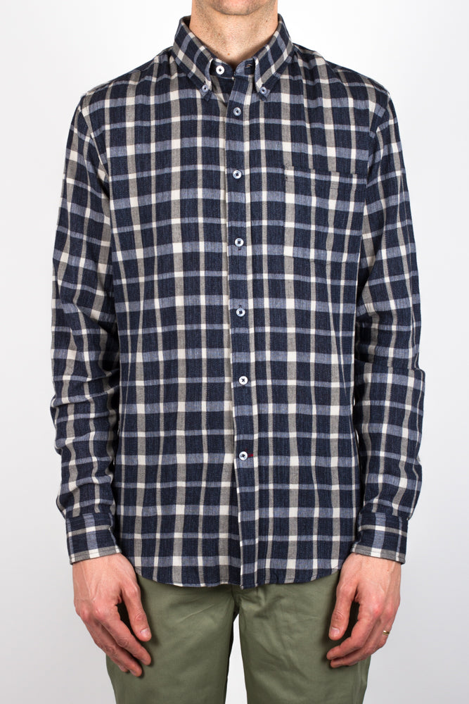 Gino Dobby Plaid - Navy/Light Blue