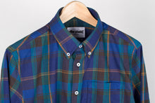Gino S/S Linen Mix Plaid - Blue/Green/Orange